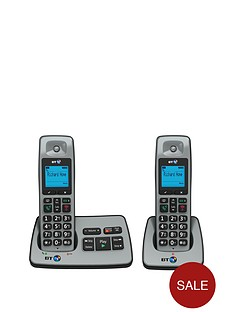bt-2500-cordless-telephone-with-answering-machine-twin-pack