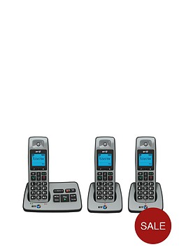 bt-2500-cordless-telephone-with-answering-machine-trio-pack