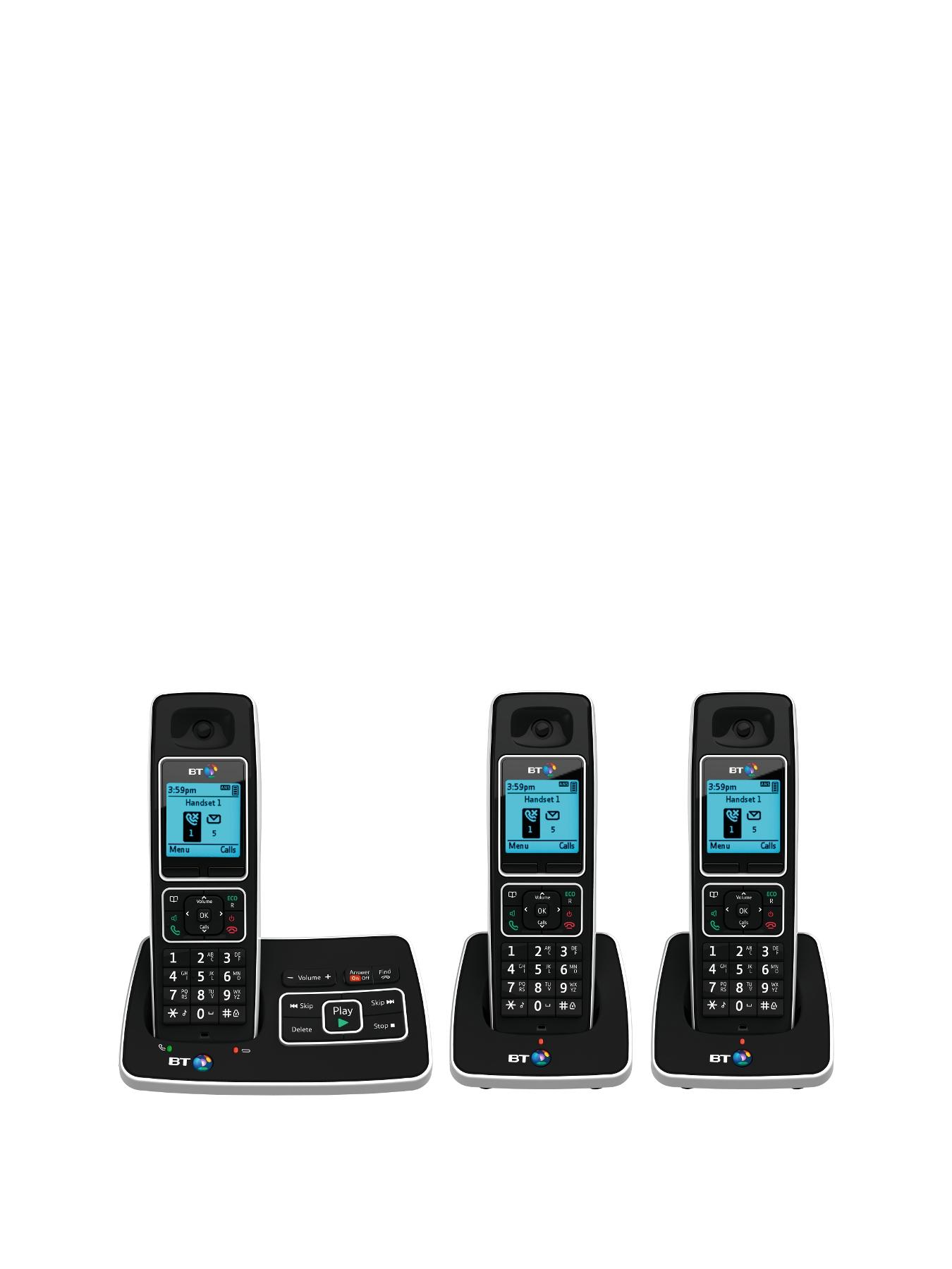 6500 Cordless Telephone with Answering Machine - Trio Pack