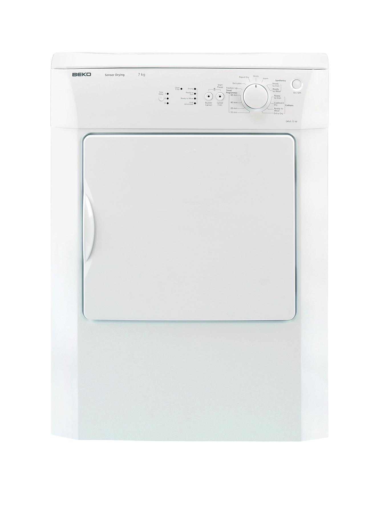 7kg Load Vented Tumble Dryer (Next Day Delivery) - White