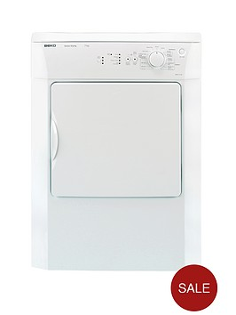 beko-drvs73w-7kg-load-vented-sensor-tumble-dryer-white