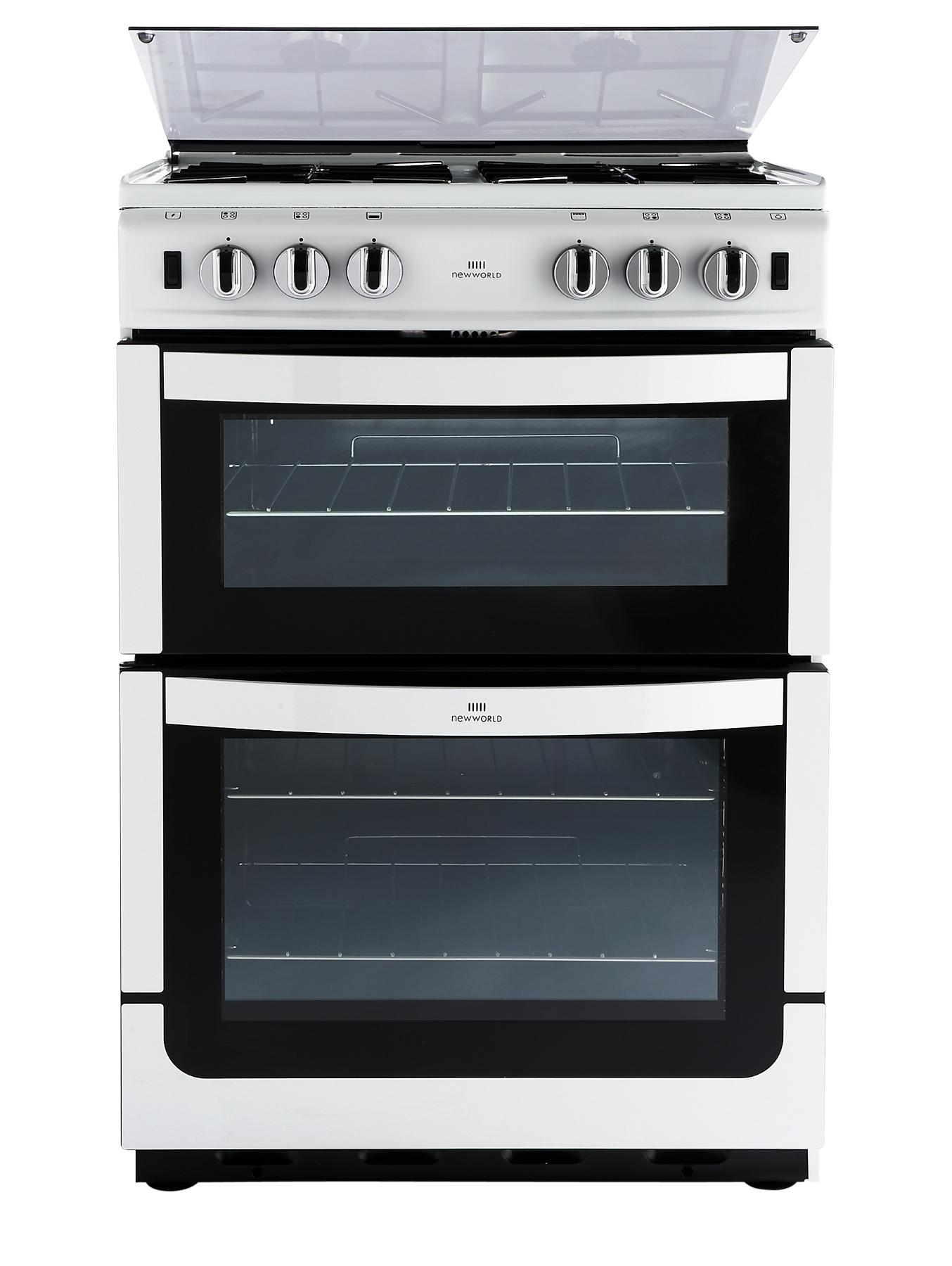 NW601GTCL 60cm Twin Cavity Gas Cooker - White