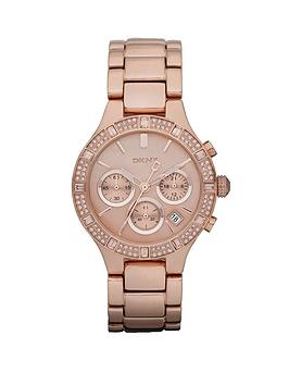 dkny-chambers-rose-gold-tone-chronograph-ladies-watch