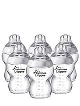 Closer to Nature 260ml Baby Bottles (6 Pack)