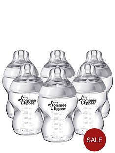 tommee-tippee-closer-to-nature-260ml-baby-bottles-6-pack