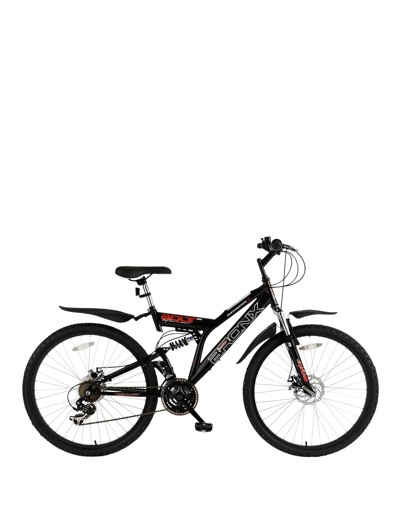 Bolt 18 inch Frame Dual Suspension Mens Mountain Bike