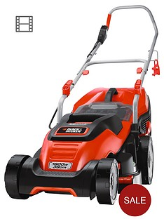 black-decker-emax38i-gb-1600-watt38cm-edgemax-compact-go-lawn-mower-free-prize-draw-entry