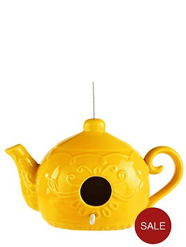 ceramic-teapot-birdhouse-yellow