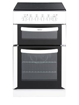 belling-fsec50fdow-50cm-double-oven-electric-cooker-white