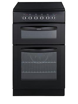 belling-fsec50fdob-50cm-double-oven-electric-cooker-black