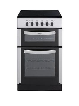 belling-fsec50fdos-50cm-double-oven-electric-cooker-silver