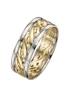 love-gold-9-carat-2-colour-gold-celtic-wedding-band-7mm