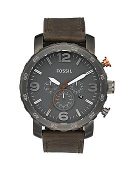 fossil-mens-nate-black-dial-and-strap-watch