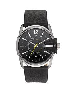 diesel-mens-black-leather-strap-watch