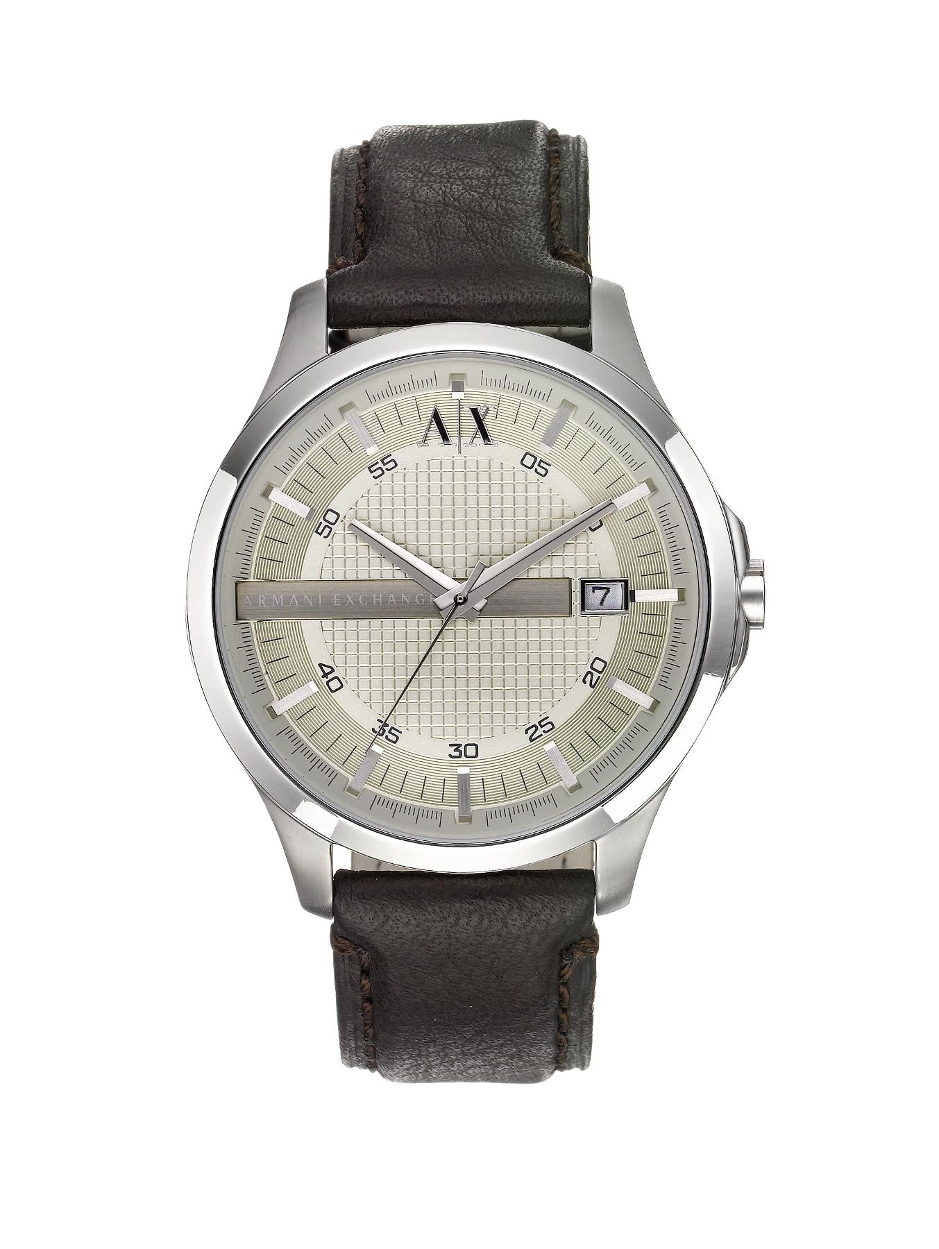 Brown Leather Strap Mens Watch