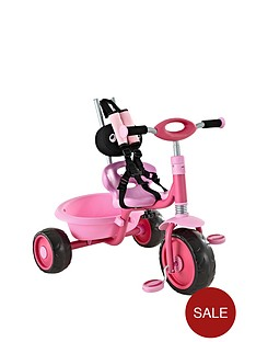 hauck-prema-tricycle-with-removable-parent-handle-pink