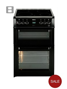 beko-bdvc664k-60cm-electric-double-oven-cooker-black