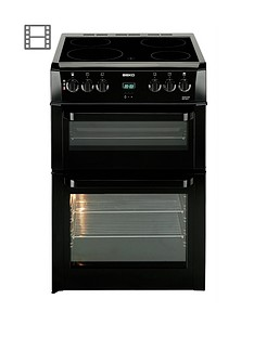 beko-bdvc664k-60cm-electric-double-oven-with-connection-black