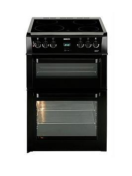 Beko Bdvc664K 60Cm Electric Double Oven Cooker  Black