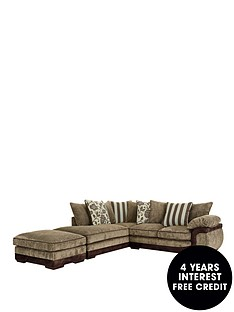 mendoza-left-hand-single-arm-corner-chaise-plus-footstool