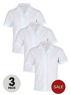top-class-girls-easy-care-school-uniform-short-sleeve-shirts-3-pack