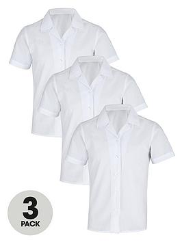 top-class-girls-school-uniform-short-sleeve-shirts-3-pack