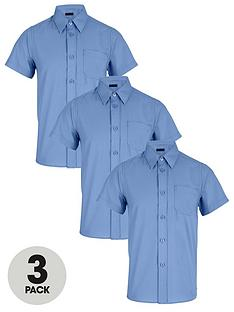 top-class-boys-short-sleeve-school-shirts-3-pack