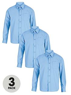 top-class-boys-long-sleeve-school-shirts-3-pack