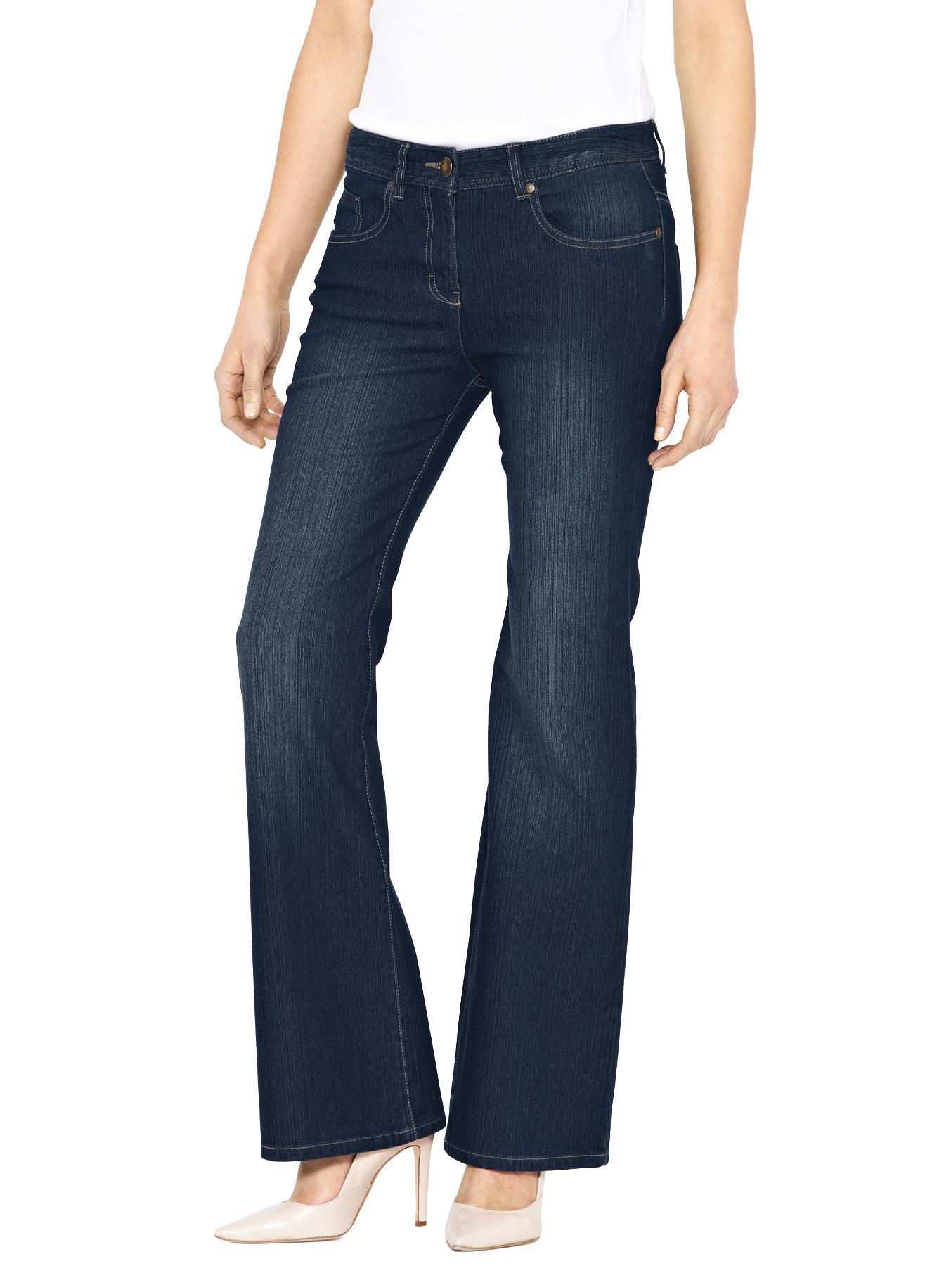 Petite Bootcut Jeans, Black,Indigo