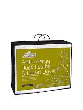 Downland 15 Tog AntiAllergy Duck Feather And Down All Seasons Duvet