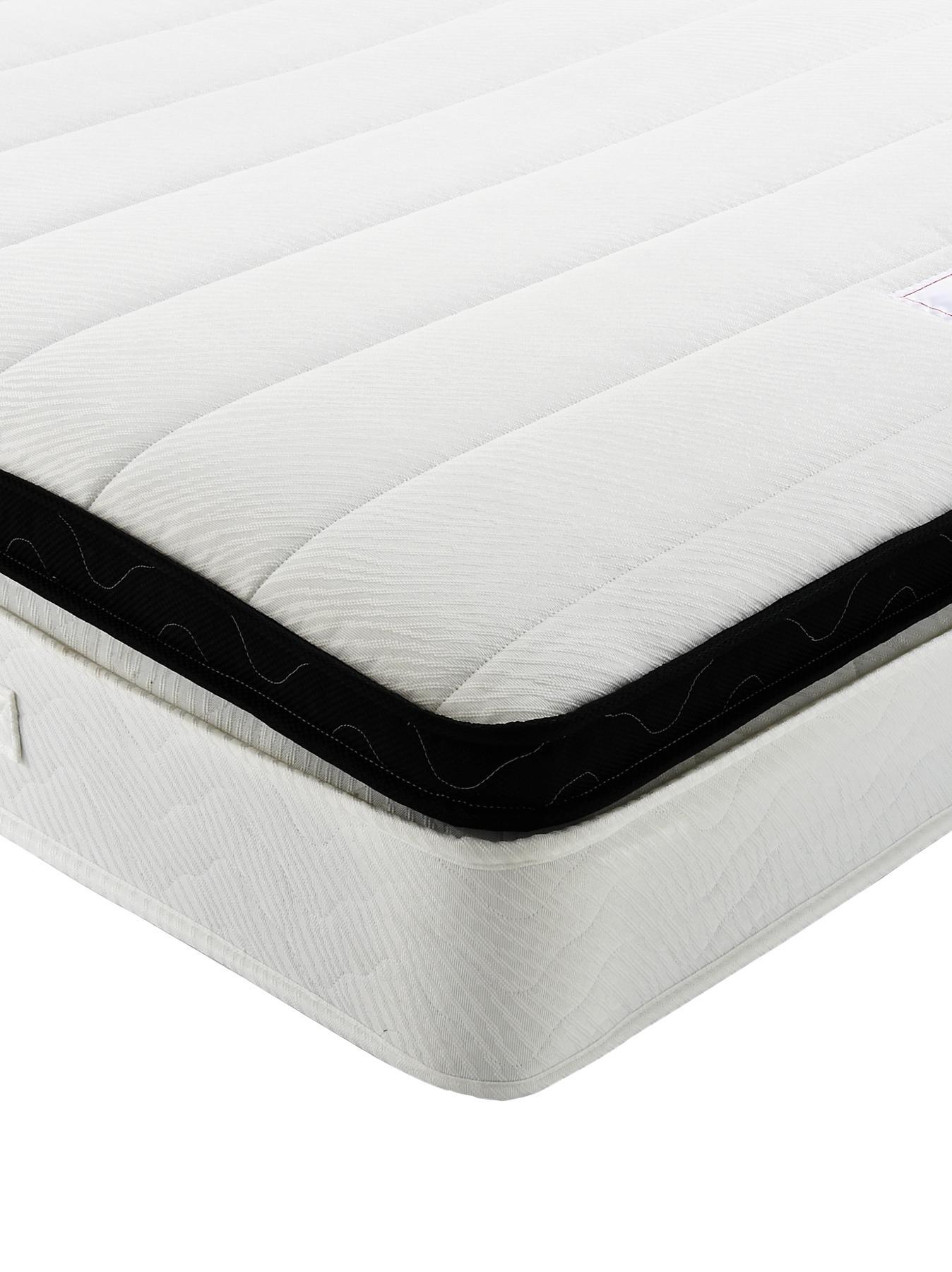Wincham Deep Comfort Box Top Mattress - Medium, Beige,Black