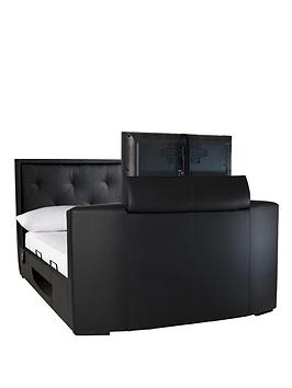 estates-faux-leather-storage-tv-bed-frame-with-optional-mattress