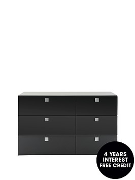 mono-glass-top-3-3-wide-chest-of-drawers