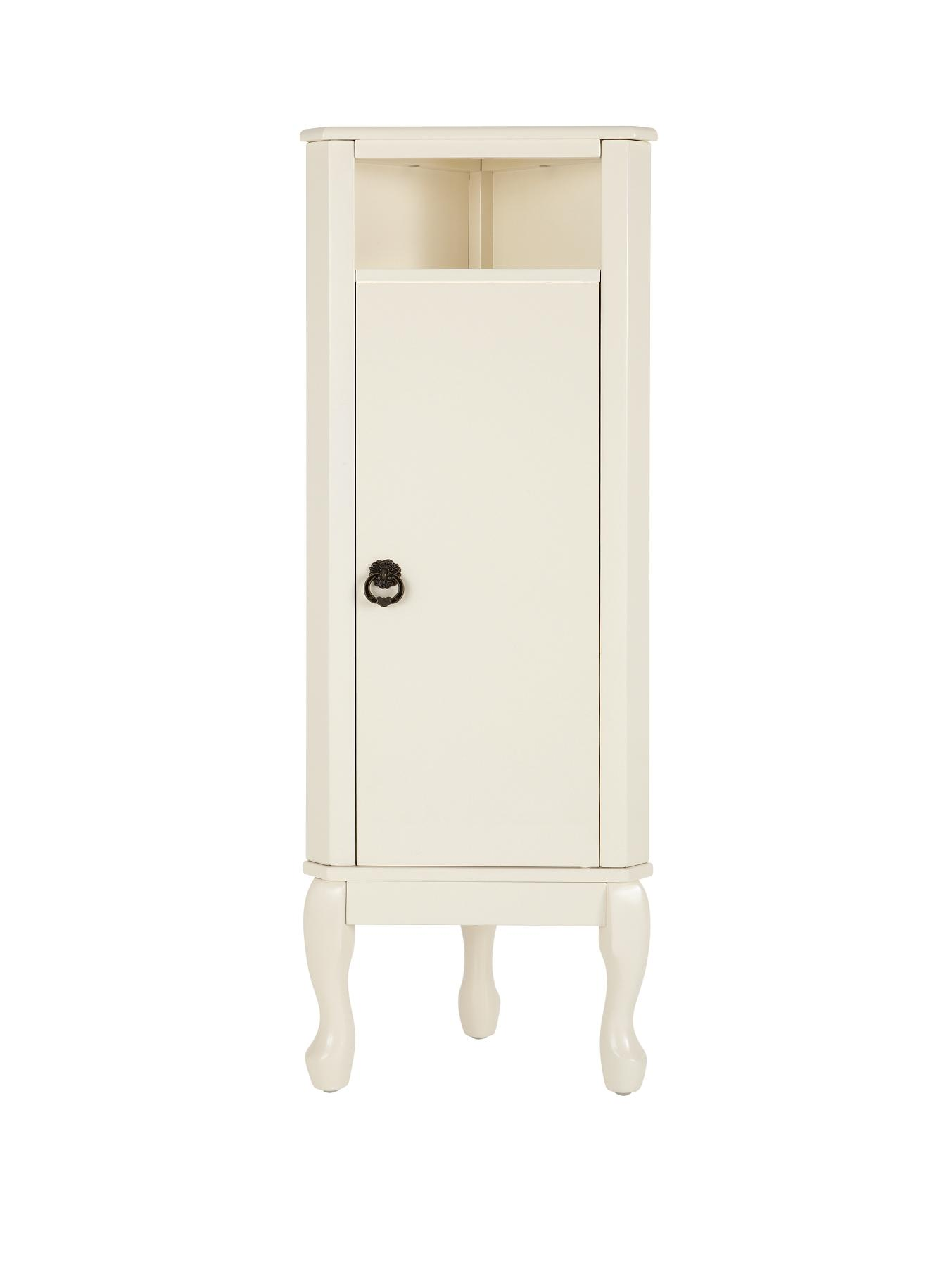 Elysee Corner Bathroom Floor Cabinet Unit Whitegrey