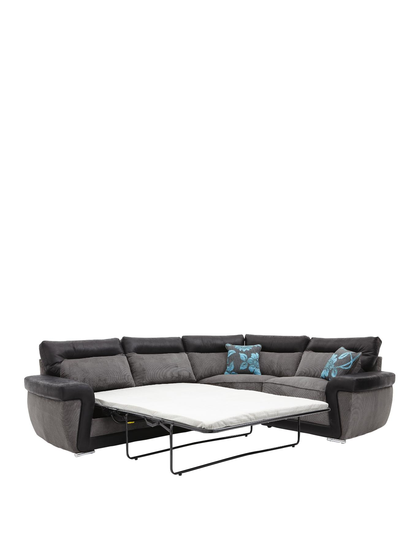 Tamsin Right Hand Corner Group with Sofa Bed BlackChocolate