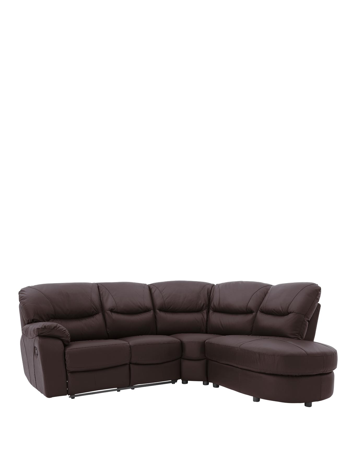 Oakland Righthand Reclining Leather Corner Group BlackRedChocolate