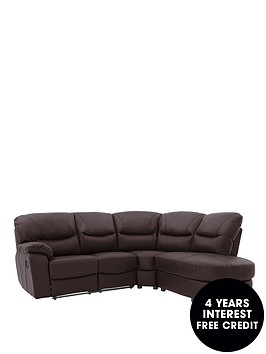 oakland-right-hand-reclining-leather-corner-group