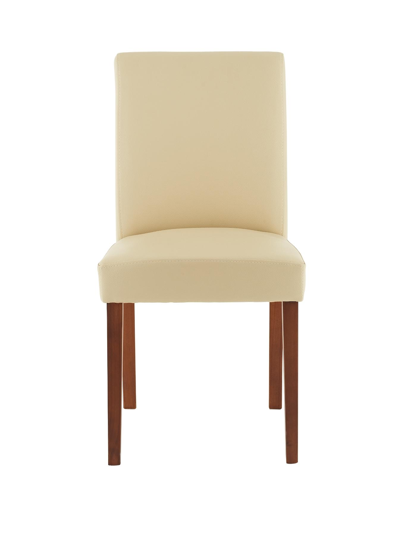 Lucca Dining Chairs (Set of 2), Brown,Cream,Black