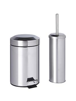 Sabichi bathroom bin and brush set for Bathroom bin set