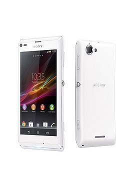 sony-xperia-l-smartphone-white-with-free-incipio-feather-hard-shell-case
