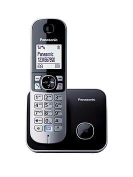panasonic-kx-tg6811eb-single-dect-cordless-telephone-black
