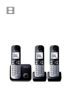 panasonic-kx-tg6813eb-triple-pack-dect-cordless-telephone-black