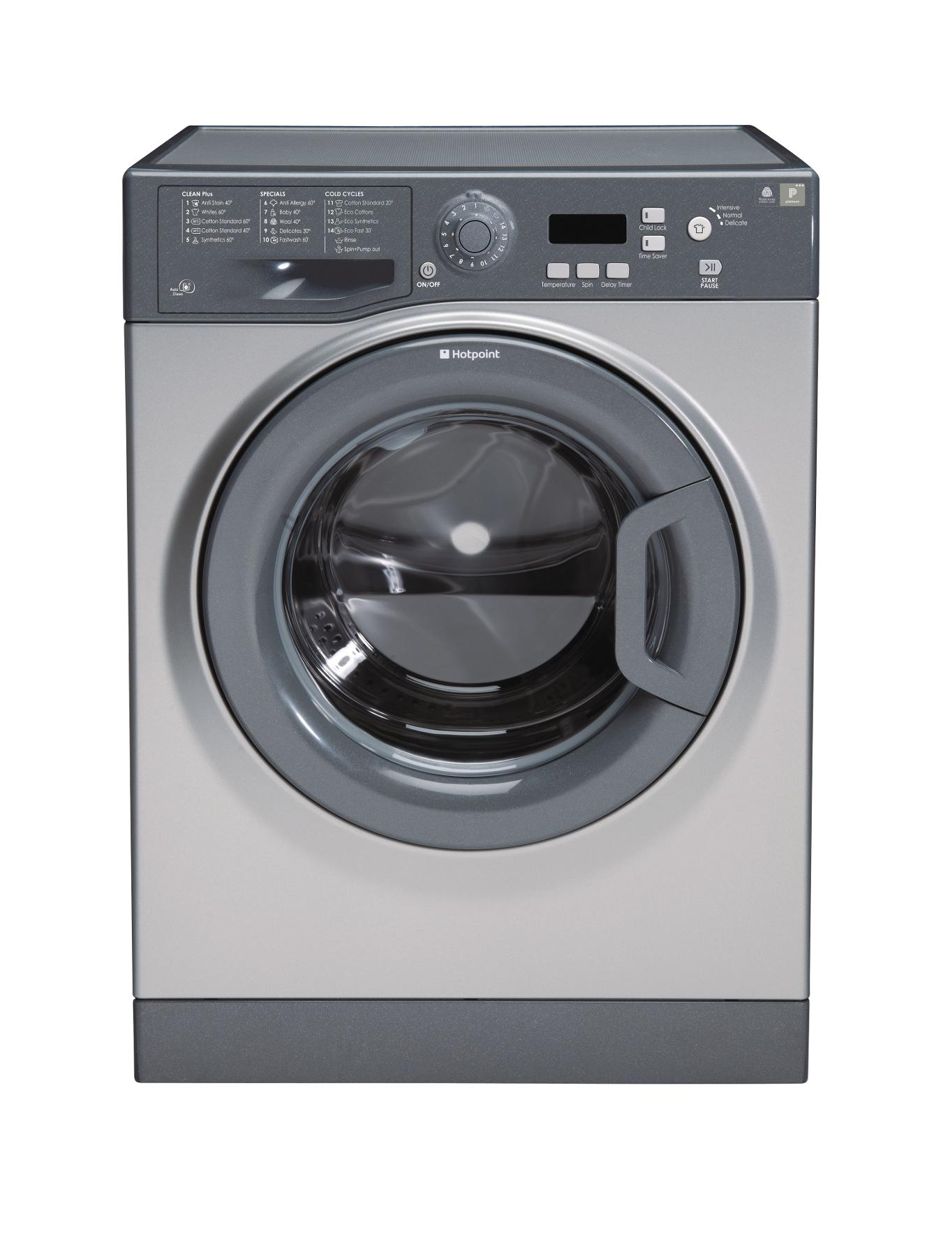 WMYF842G 1400 Spin, 8kg Load Washing Machine - Graphite