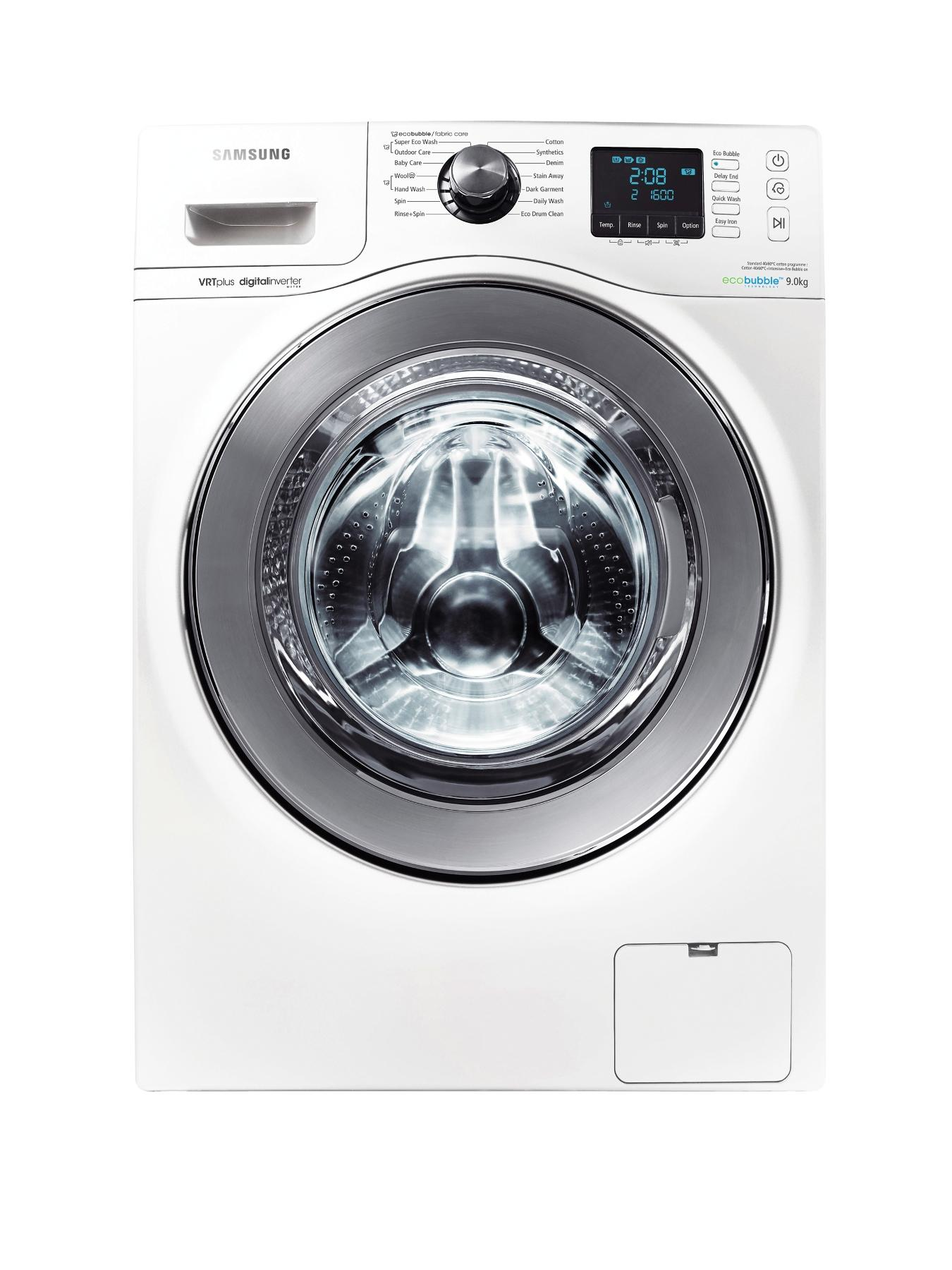 WF90F7E6U6W 1600 Spin, 9kg Load Washing Machine