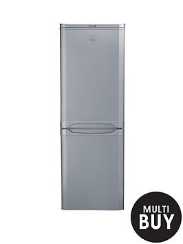 indesit-ncaa55s-55cm-fridge-freezer-silver