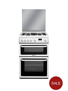 hotpoint-hagl60p-60cm-double-oven-gas-cooker-white