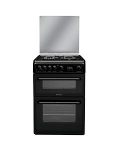 hotpoint-hagl60kl-60cm-double-oven-gas-cooker-black
