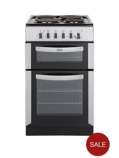 belling-fse50tcs-50cm-twin-cavity-electric-cooker-silver