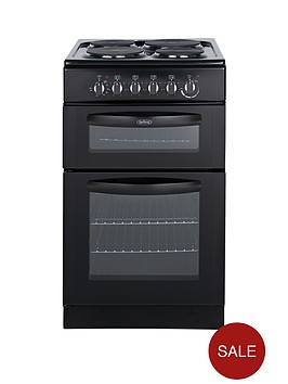 belling-fse50tcb-50cm-twin-cavity-electric-cooker-black