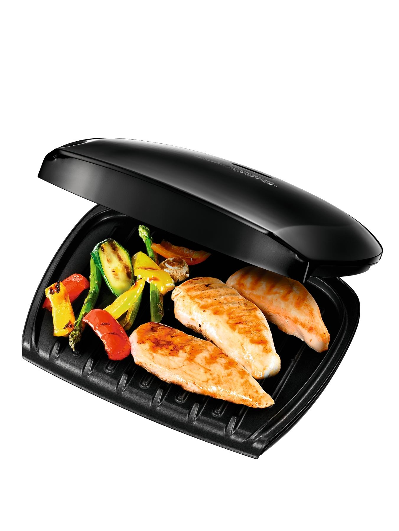 18870 5-Portion Family Grill - Black